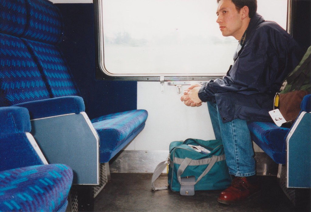 On a train from Bognor to London, 6/9/1998