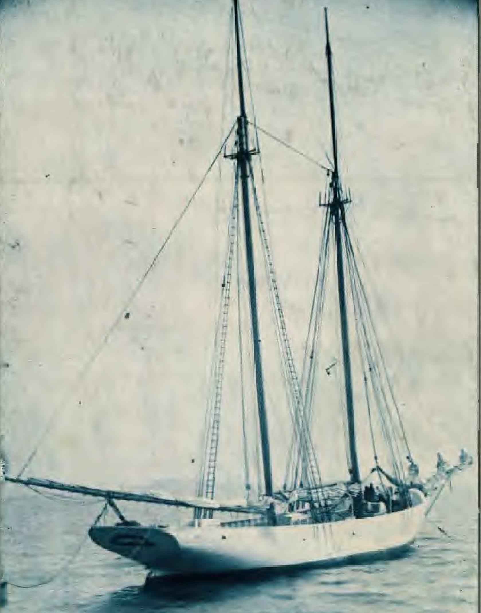 The Adventist schooner Pitcairn, circa 1890.