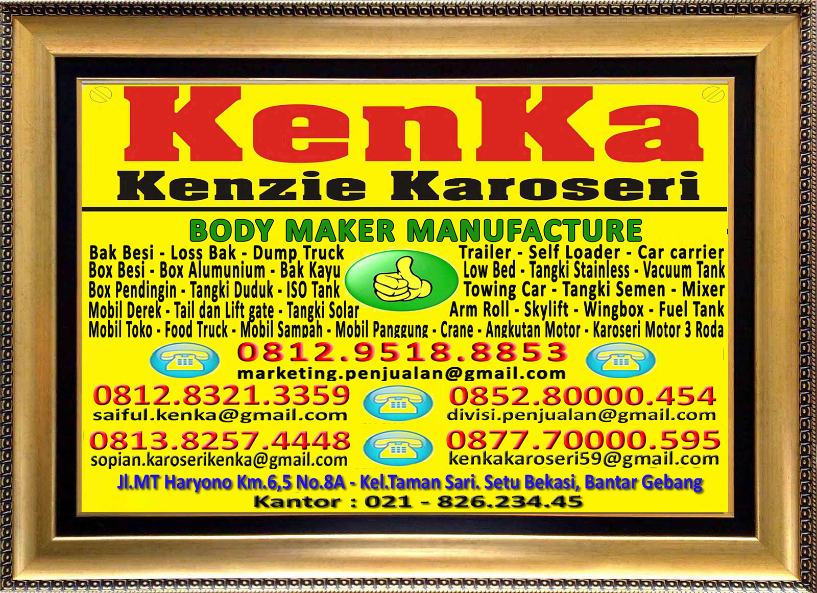 Karoseri Mobil & Truck KenKa - Susi - Saiful - Thamrin - Sopian - Nipo
