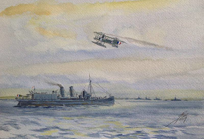 HMS ENGADINE just prior to Jutland, a-c is based on the Short 185, they tried a few different engines around then
