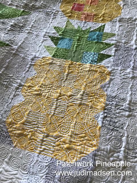 Patchwork Pineapple by Judi Madsen www.judimadsen.com