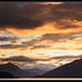 Brooding sunset Lake Te Anua