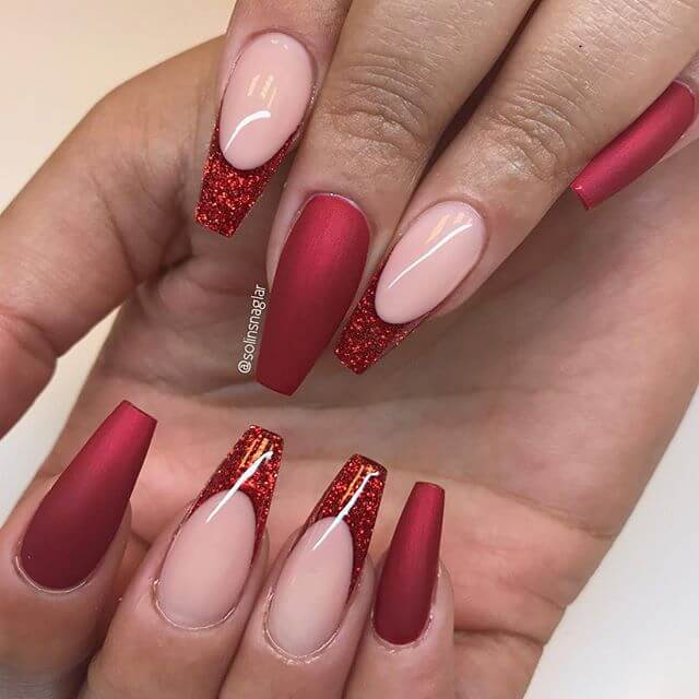 50 Awesome Red Acrylic Nail Designs To Carry Your Attitude