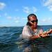 Sama Dilaut Woman Collecting Shellfish, Sampela, Indonesia