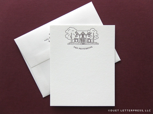 house no.72 / note cards / by duet letterpress