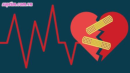 Trái tim bị tổn thương và dần suy yếu