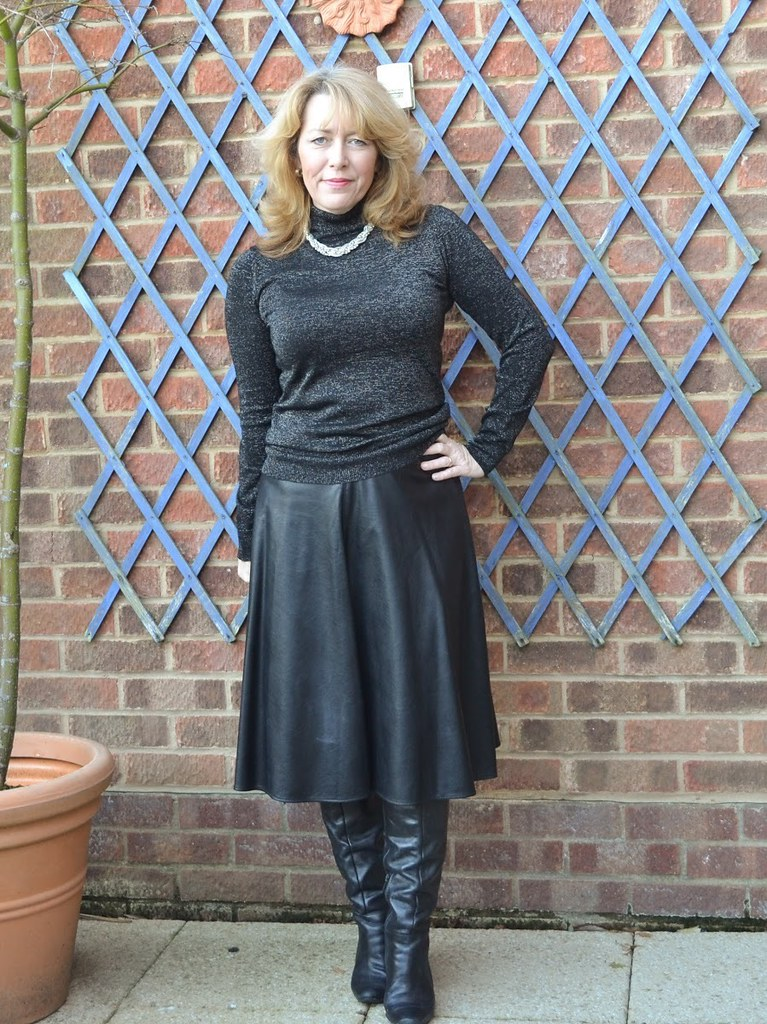 Leather Mature  Leather Skirt And Boots  Creaking1  Flickr-6737