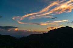 1809 Sunset from  Palisade Trail above Sabino Canyon