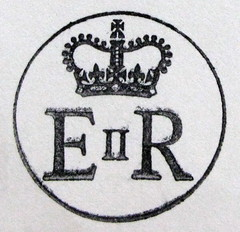 Королевский штамп на конверте из Букингемского дворца!