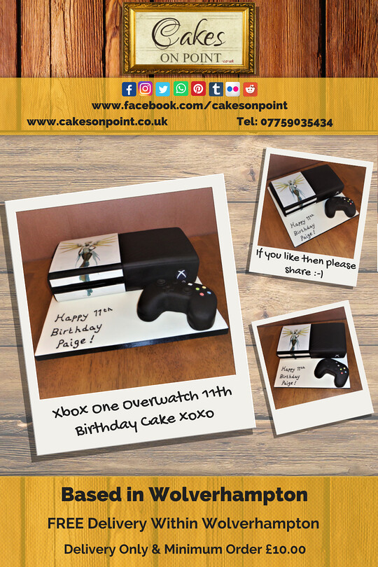 Xbox One Overwatch 11th Birthday Cake