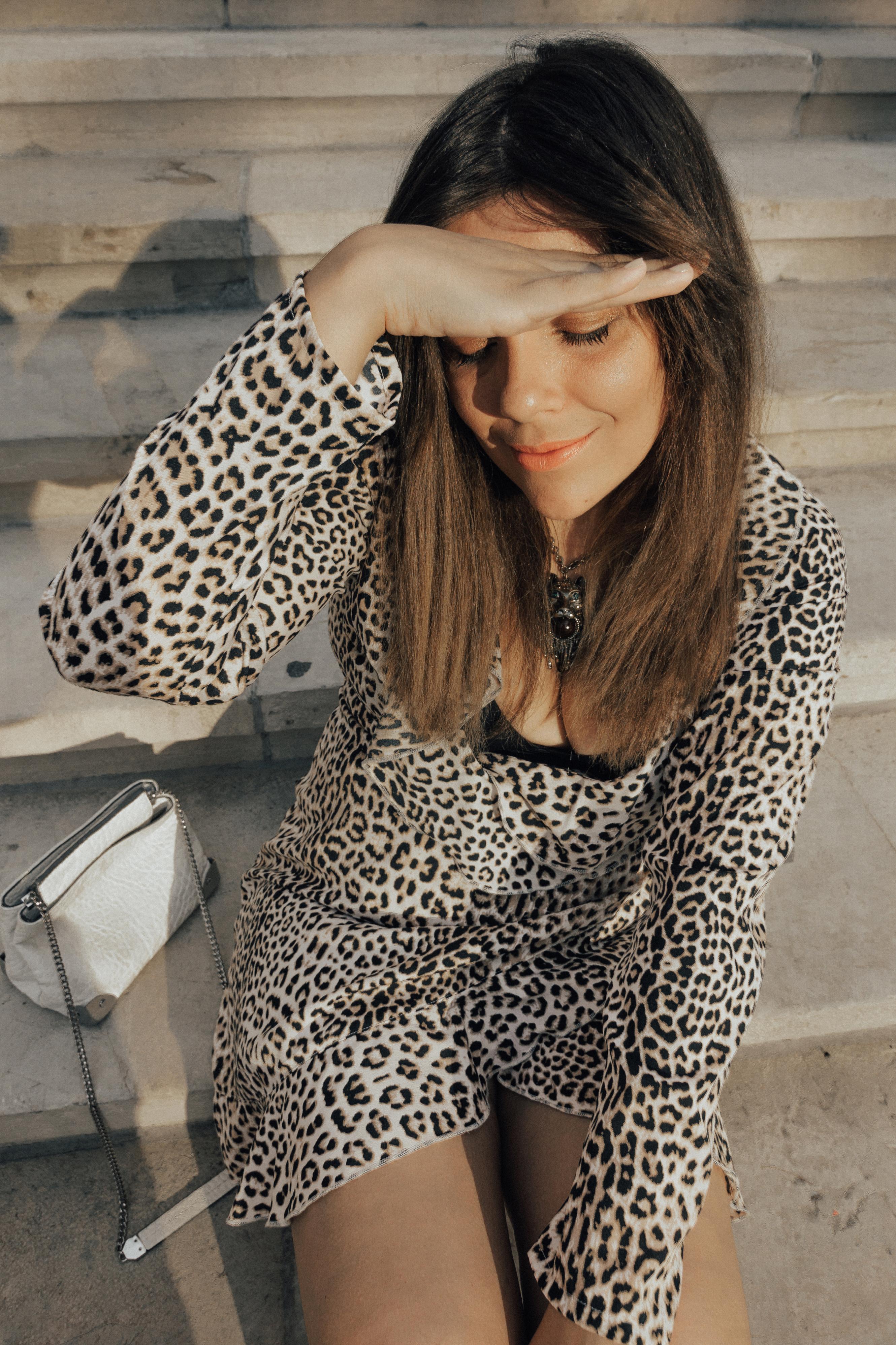vestido leopardo look