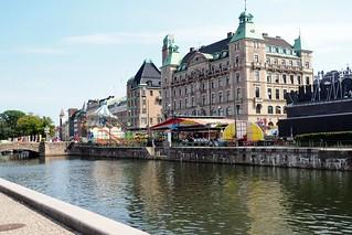 Canal terrace in Sweden