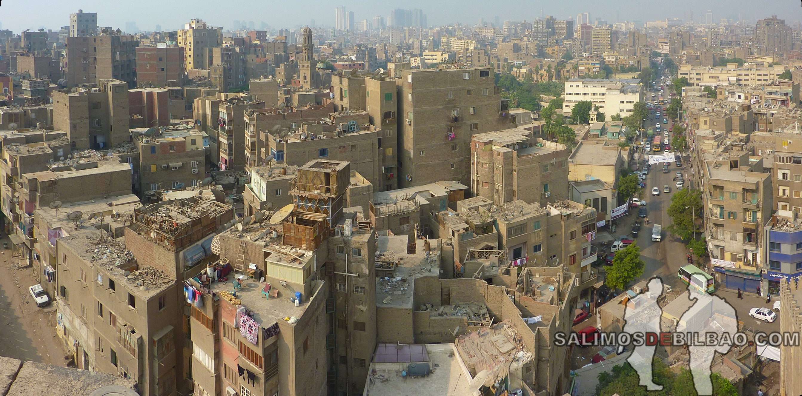 0018. Pano, Vistas desde Mezquita de Ahmad Ibn Tulun, Cairo