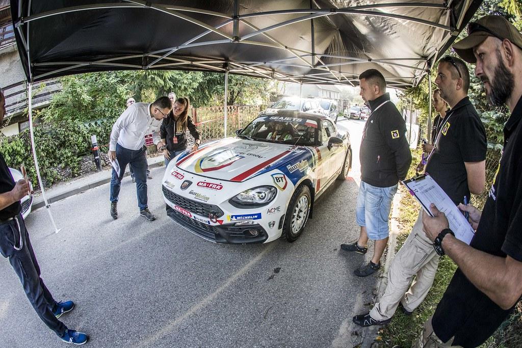 21 TEMPESTINI Simone (ROU), ITUROUROU Sergiu (ROU), Fiat 124 Abarth RGT, action during the 2018 European Rally Championship PZM Rally Poland at Mikolajki from September  21 to 23 - Photo Gregory Lenormand / DPPI