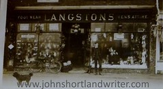 Langston's Gents Outfitters circa 1910