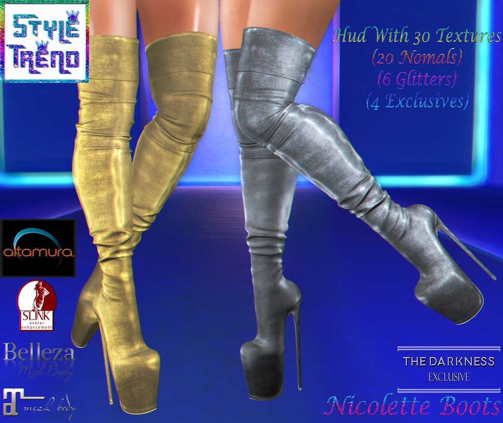 Style Trend - Nicolette Boots - The Darkness Event - Exclusive - TeleportHub.com Live!