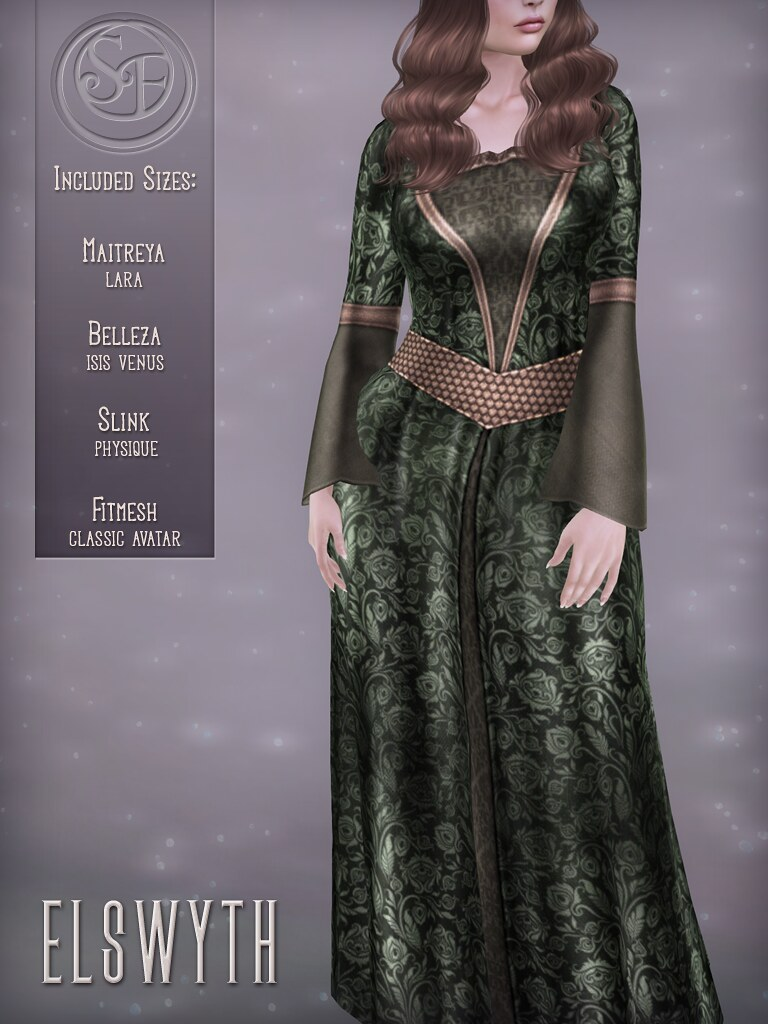 Senzafine . Elswyth Gown Poster - TeleportHub.com Live!