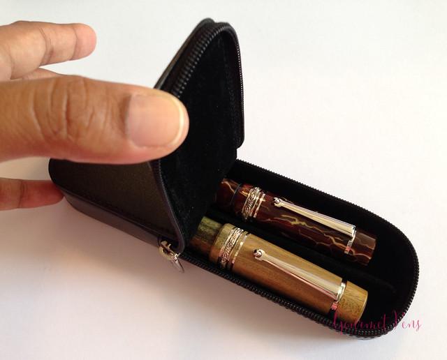 Visconti Zippered Leather Pen Cases @AppelboomLaren @CouronneduComte 2