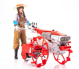 "Farm with PLAMAX MF-28 Minimum Factory ""Inaho and Honda Cultivator F90"" Model Kit!"