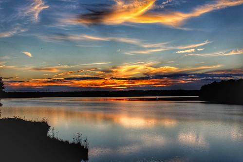 sunsets lakecrabtree northcarolina