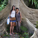 Samantha and Kanitha between the roots of the giant Tualang by B℮n