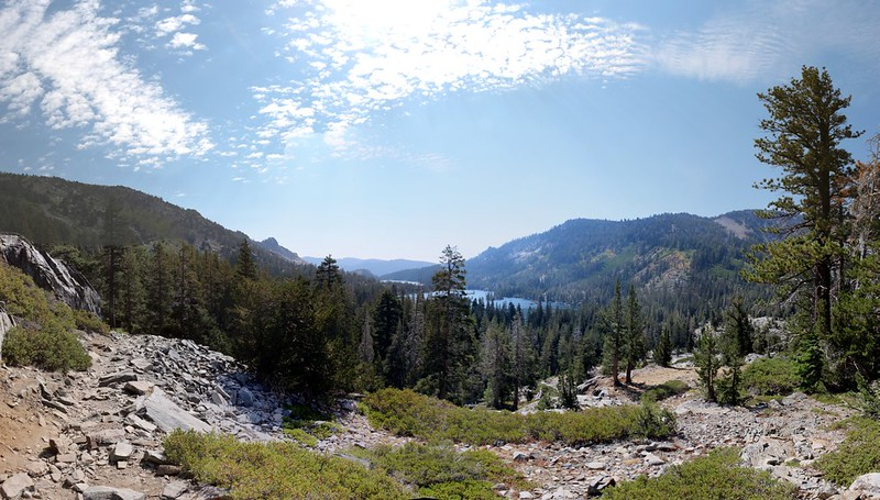 Looking back at Echo Lake as we head north on the Pacific Crest Trail - Tahoe Rim Trail