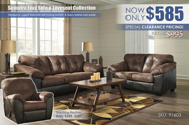 Sumatra Java Sofa & Loveseat_Special_91603-38-35-T392_Clearance