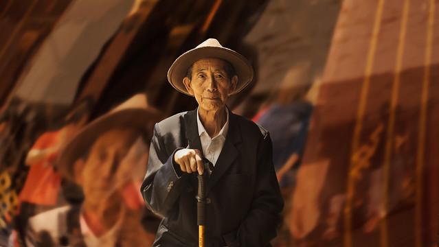 Old pilgrim in Jokhang, Nikon D850, AF Nikkor 50mm f/1.4D