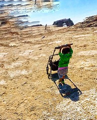 Toddler Approaching the Beach