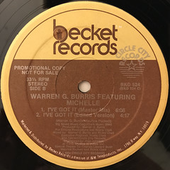 WARREN G. BURRIS FEATURING MICHELLE:I'VE GOT IT(LABEL SIDE-B)