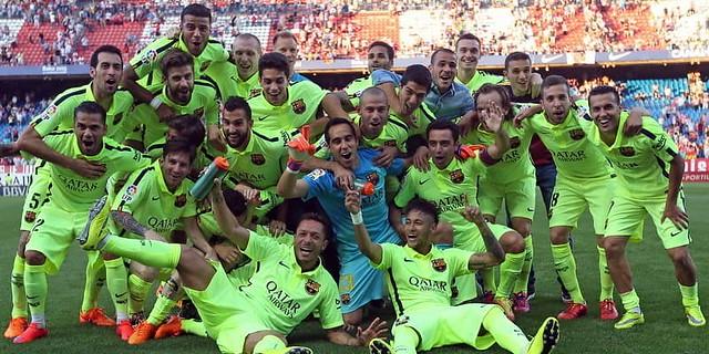 Barcelona: Akan Pakai Lencana Juara La Liga Spanyol