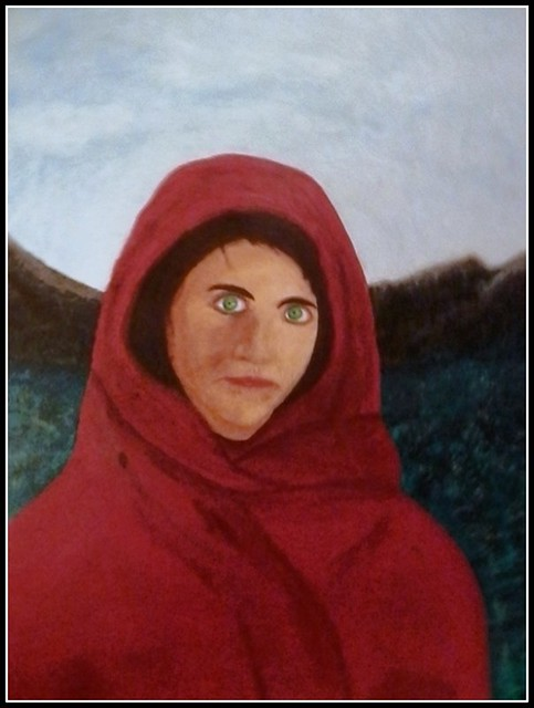 The Valley Girl - Acrylic Painting by A Relative Who Wanted Me To Post This With His Permission - Painted On  March 6, 2013 - This Photo Of This Painting Was Taken On December 25, 2015 by STEVEN CHATEAUNEUF