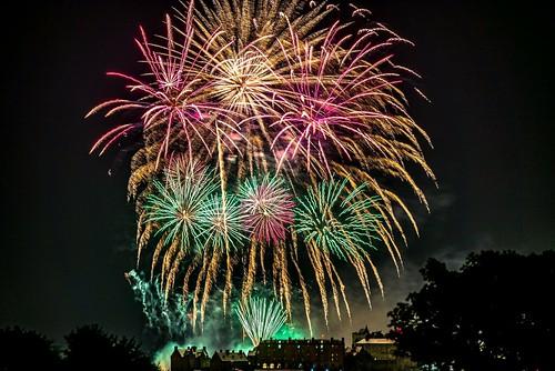 Festival fireworks Edinburgh castle
