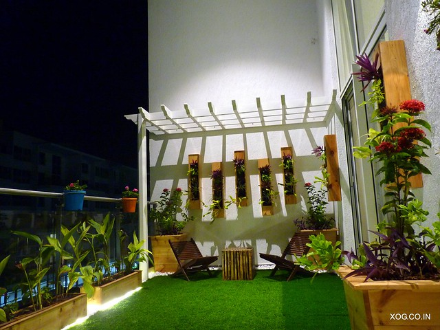 double height garden in a villament
