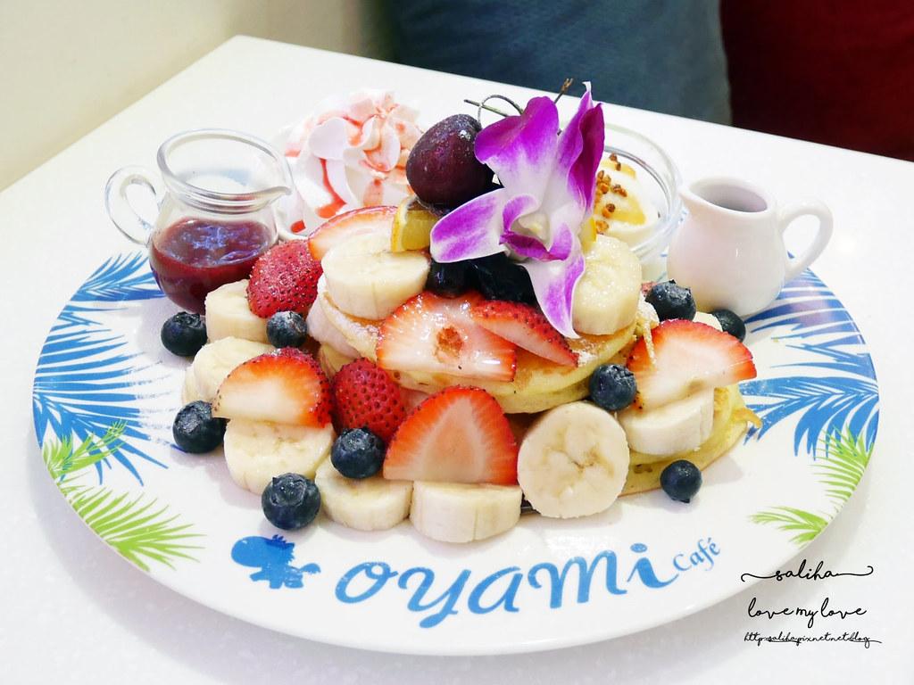 台北西門站好吃夢幻甜點鬆餅下午茶oyami cafe咖啡館