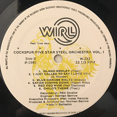 COCKSPUR FIVE STAR STEEL ORCHESTRA:VOL.1(LABEL SIDE-B)