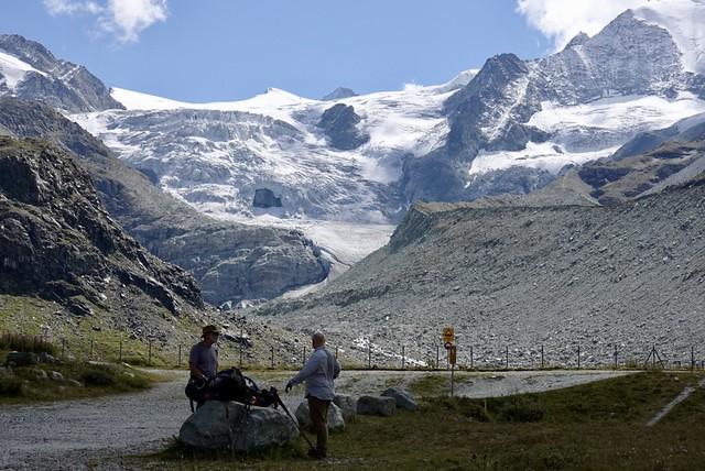 Glacier de Moiry above