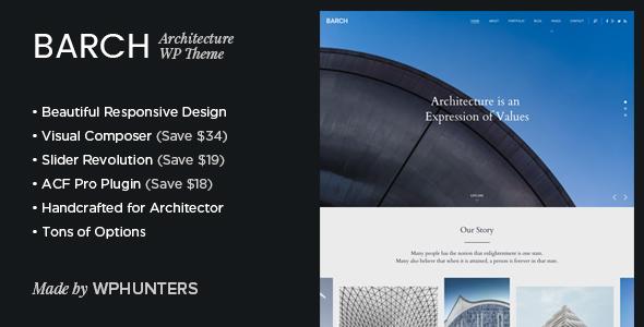 Barch v1.2 – Architecture Portfolio WordPress Theme