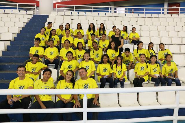 20.08.18 Alunos de escola municipal acompanham jogo da seleção brasileira de voleibol.