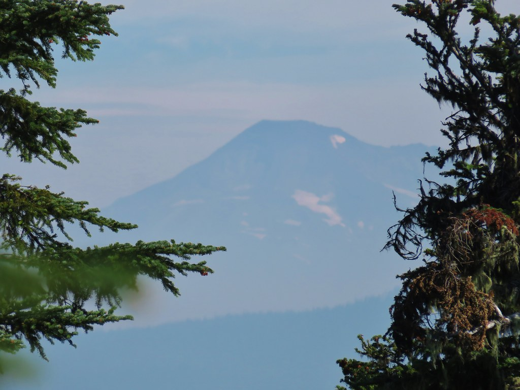 Smoke from the Terwilliger Fire obscuring the view of South Sister