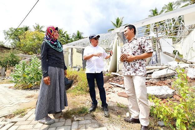 BTN Salurkan Bantuan Dana Renovasi Rumah Korban Gempa Lombok