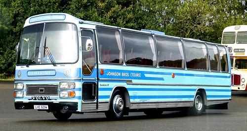LHE 601W 'Johnson Bros. (Tours)', Worksop, Notts. Volvo B58-56 / Plaxton Supreme IV on Dennis Basford's railsroadsrunways.blogspot.co.uk'