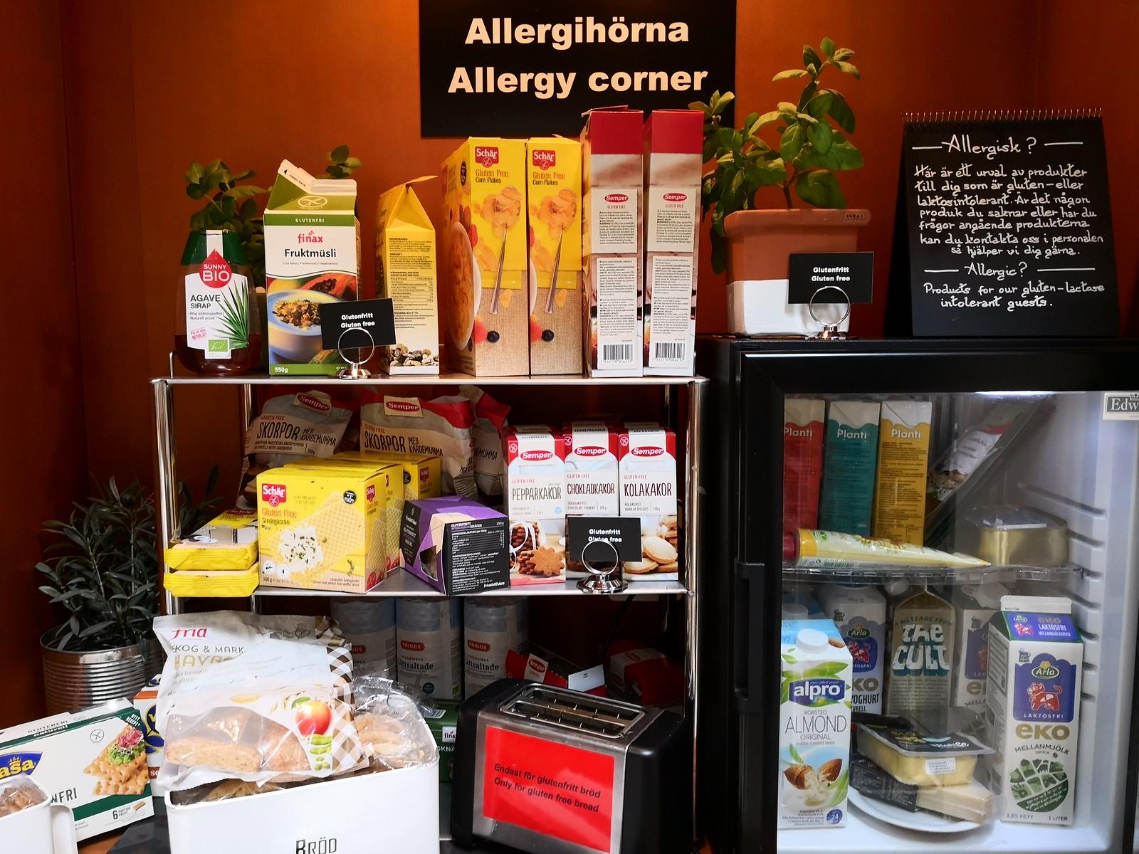 Allergy corner