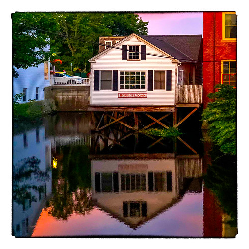 0818 sunset river reflection buildings vacation 2018 sliderssunday camden maine unitedstates us