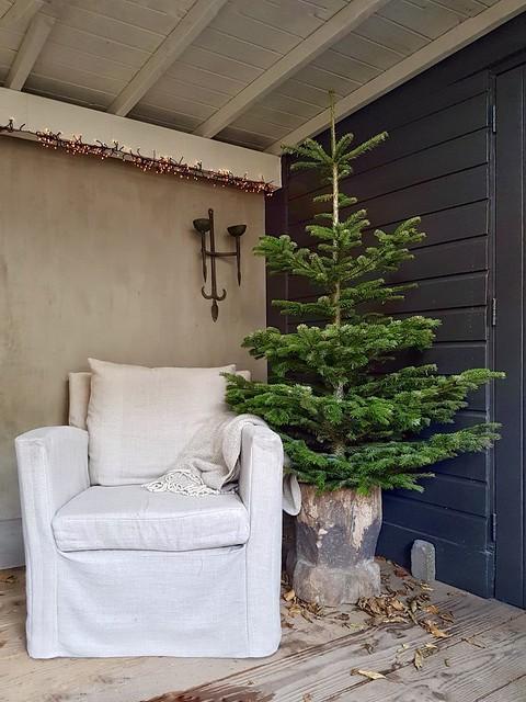 Winter kerst styling veranda Lia