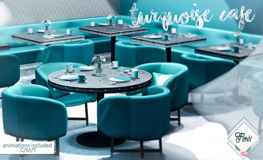 .Florix. Turquoise Cafe @ Trés Chic