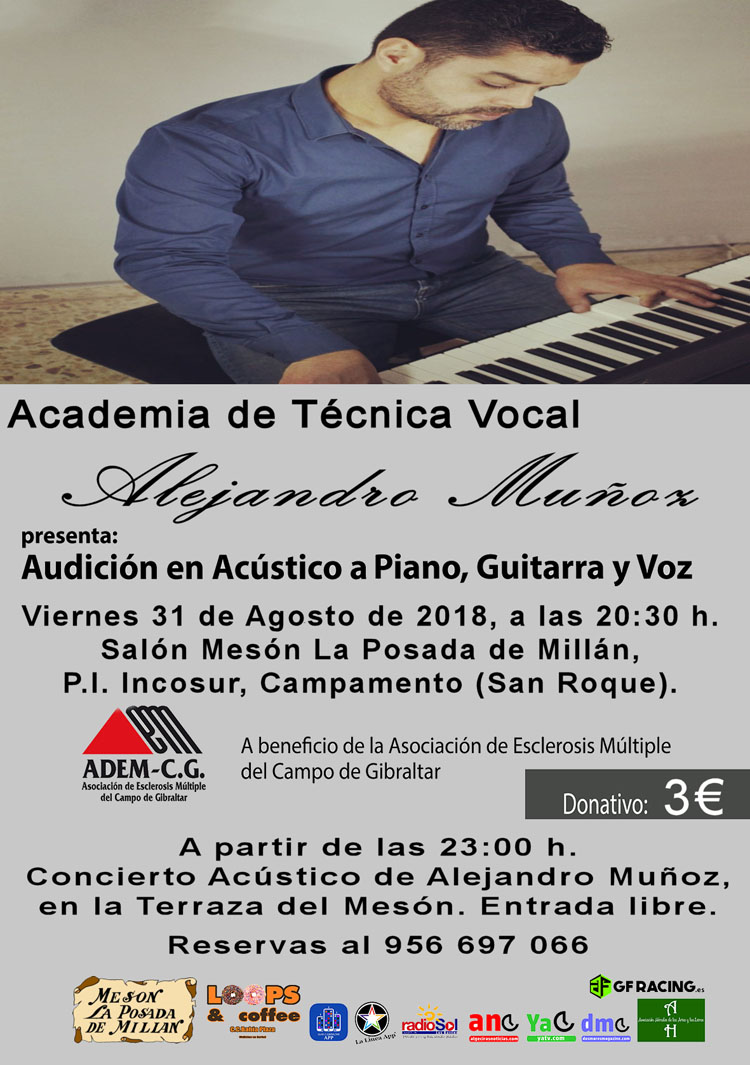 CARTEL AUDICION ALEJANDRO MUÑOZ 31-08-20182