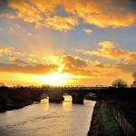 Sunset scene in Preston
