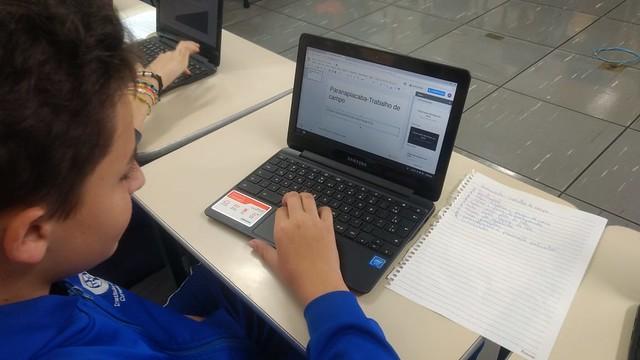 Aulas de geografia - Chromebooks