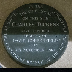 Photo of Theatre Royal, Canterbury and Charles Dickens grey plaque